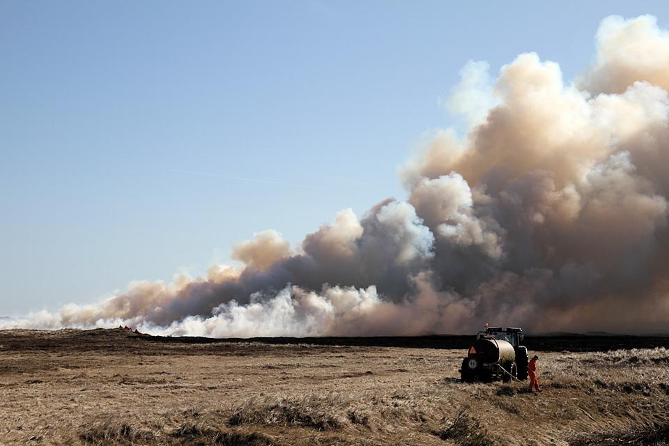 Hedeafbrænding i Hanstedreservatet